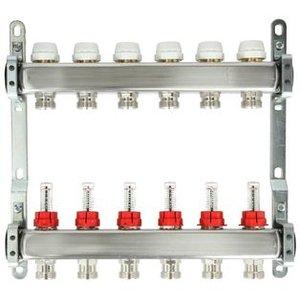 Itap 11-Groeps RVS Collector Met Debietmeters