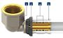 FIV Verloop T-stuk  Perskoppeling 26/3 x 16/2 x 26/3_